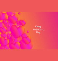 pink heart colorful neon figuresvalentines day vector image