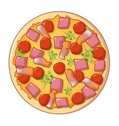 pizza margarita icon cartoon style vector image