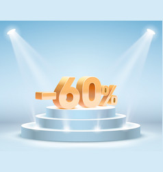 podium with percentage vector image
