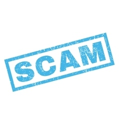 Scam Rubber Stamp vector