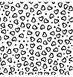 seamless pattern hearts dots vector image