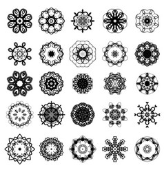 set of different rosette vector image