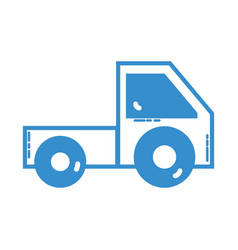 silhouette trunk vehicle transportation style vector image