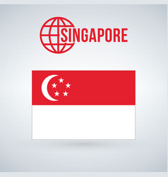 Singapore flag isolated on modern background with vector