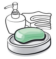 soap bar in bathroom vector image