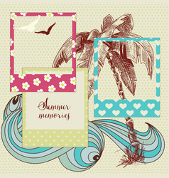 summer holidays photo frames vector image