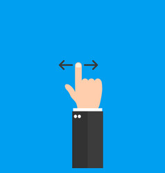 swipe up hand icon vector image