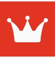 The crown icon Crown symbol vector image