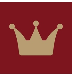 The crown icon Crown symbol vector