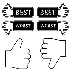 Thumb best worst labels vector