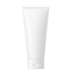 white glossy plastic tube with cap vector image