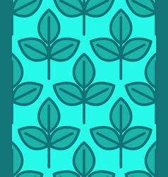 young sapling seamless pattern sprout plant vector image