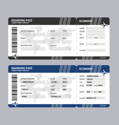 airline ticket boarding pass vector image