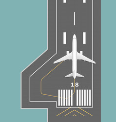 airplane on the runway vector image vector image