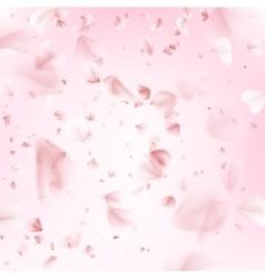 Flying petals of sakura EPS 10 vector image
