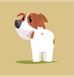 jack russell puppy character back view cute funny vector image vector image