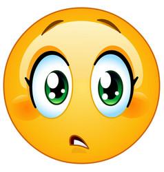 slight concern female emoticon vector image