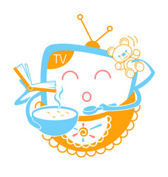 concept of child television vector image vector image