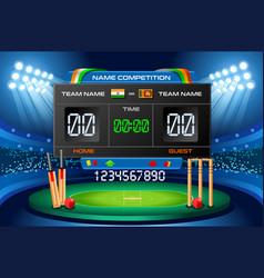 cricket scoreboard background vector image