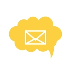 envelope within conversation cloud icon vector image