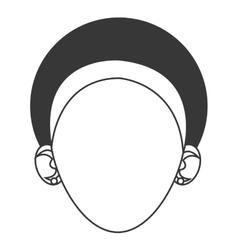 head of woman with headband icon vector image