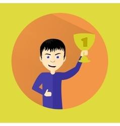 The winner p EPS10 vector image