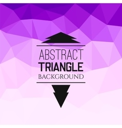 Abstract purple triangle pattern vector image