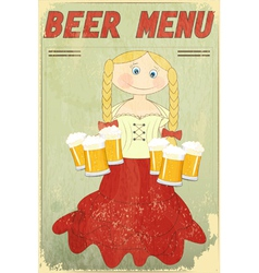 blond girl with beer vector image