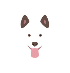 cute cartoon dog head smiling and sticking out vector image vector image