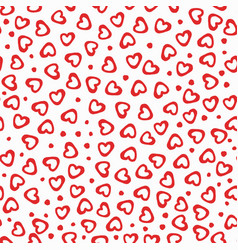 seamless pattern hearts dots vector image