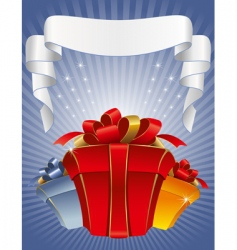 three gift boxes vector image vector image