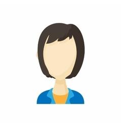 Avatar kare haircut woman icon cartoon style vector image