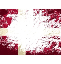 Danish flag Grunge background vector image vector image