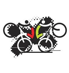 Freeride cyclists vector image