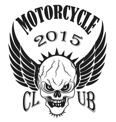 Set logos motorcycle labels badges and design vector image