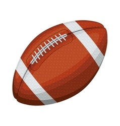 silhouette color with football ball in diagonal vector image vector image