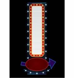 vertical neon vector image vector image