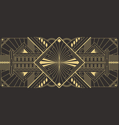 Abstract art deco geometric background vector