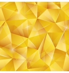 Abstract bright gold pattern from triangles vector image