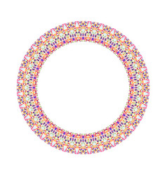 abstract colorful geometrical floral circular vector image