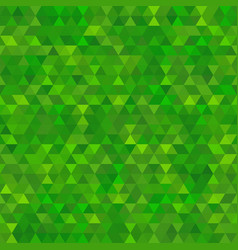 abstract seamless background of green triangles vector image