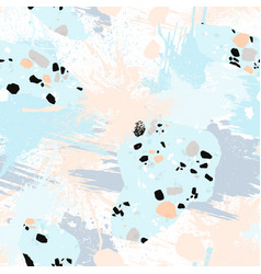 abstract seamless pattern with brush strokes vector image
