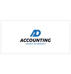 Ad accounting financial logo vector