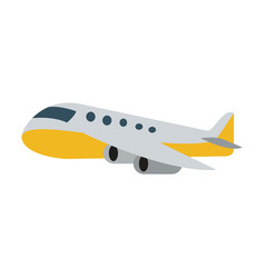 Airplane sideview icon image vector