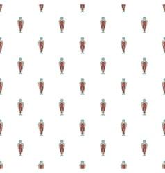 Ancient spartan gladiator pattern cartoon style vector