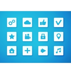 Apps icon set over blurry background vector
