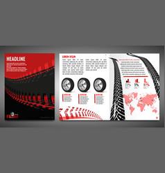 Automotive brochure template vector