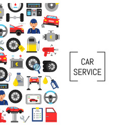 background with flat style car service vector image