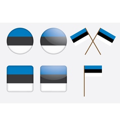 badges with Estonia flag vector image