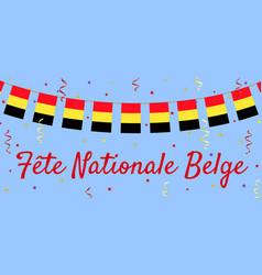 belgium day vector image